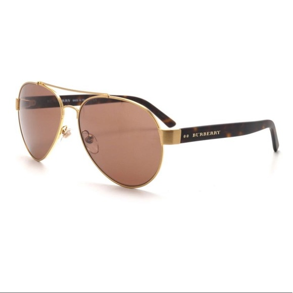 4252b7c18b69 Burberry Accessories - SALE New Burberry aviator BE3086 sunglasses gold